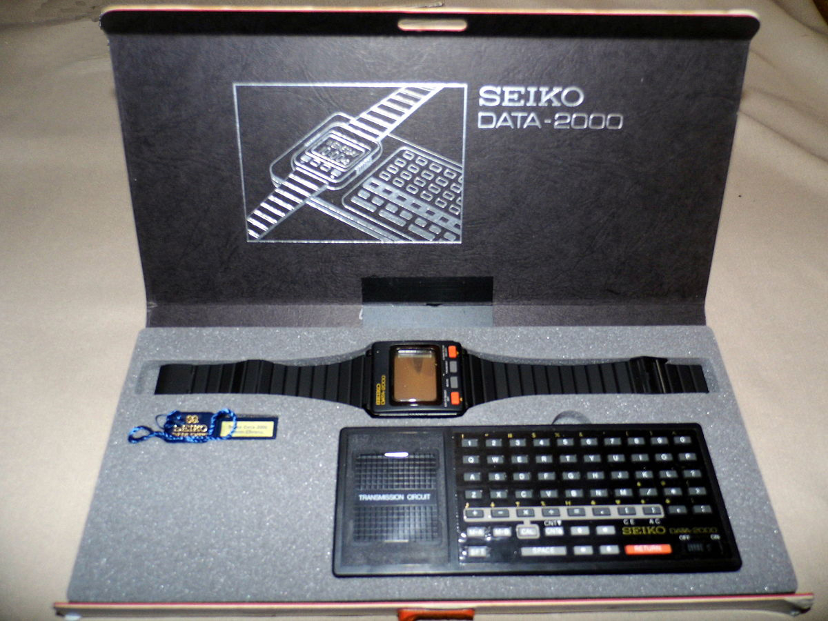 Seiko data 2000 computer watch – The Granddaddy of Smartwatches