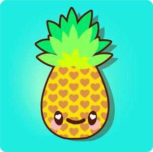 pineapple draw kawaii super simple illustrator cartoon drawing adobe background vector drawings illustration tutsplus tutorials tutorial clipart easy bring outline
