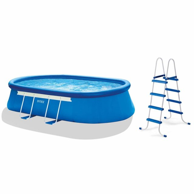 Intex Oval Frame Pool Set, 18 by 10 Review