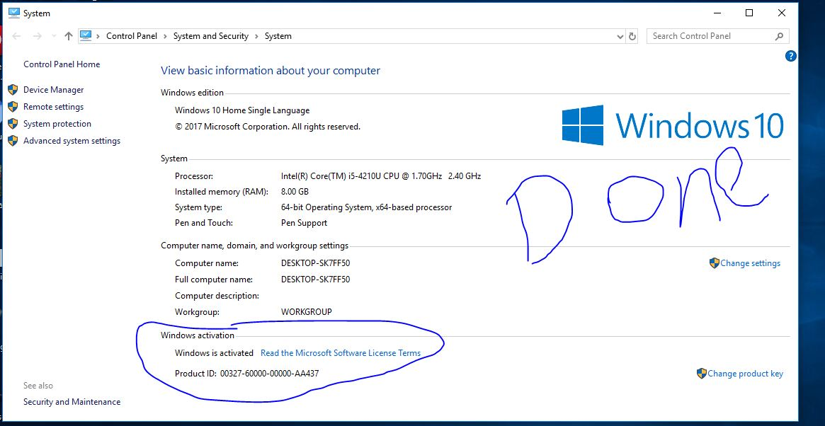 Windows is activated by microsoft toolkit