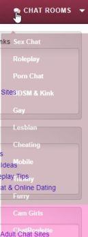 categories that 321 sex chat lists on their site