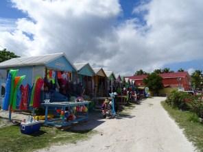 Stalls in Long Bay Beach