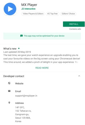 Click Install Button