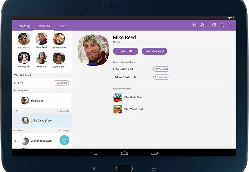 Viber for Tablet [Android/  iPad/ Windows]