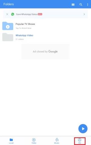 Click on ME Option
