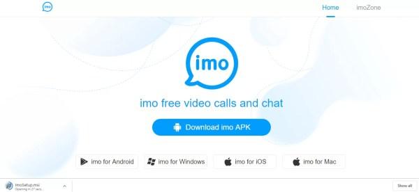 Select imo for Windows link