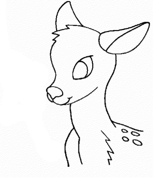 deer coloring head pages reindeer drawing colouring easy animals buck outline whitetail enjoyable leisure totally activity sheets getdrawings