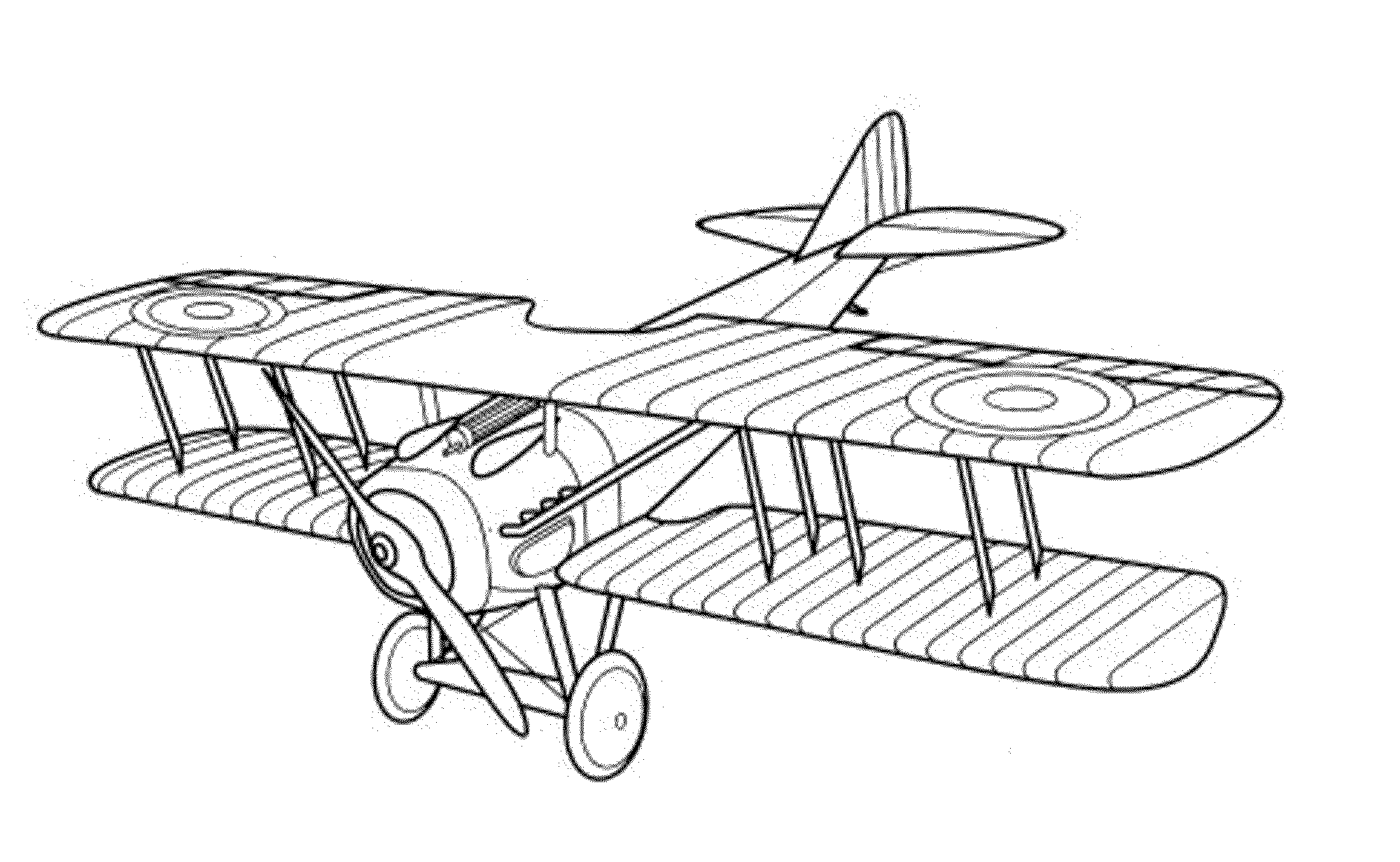 Adult Coloring Page Airplanes Wright Brothers Airplane Coloring