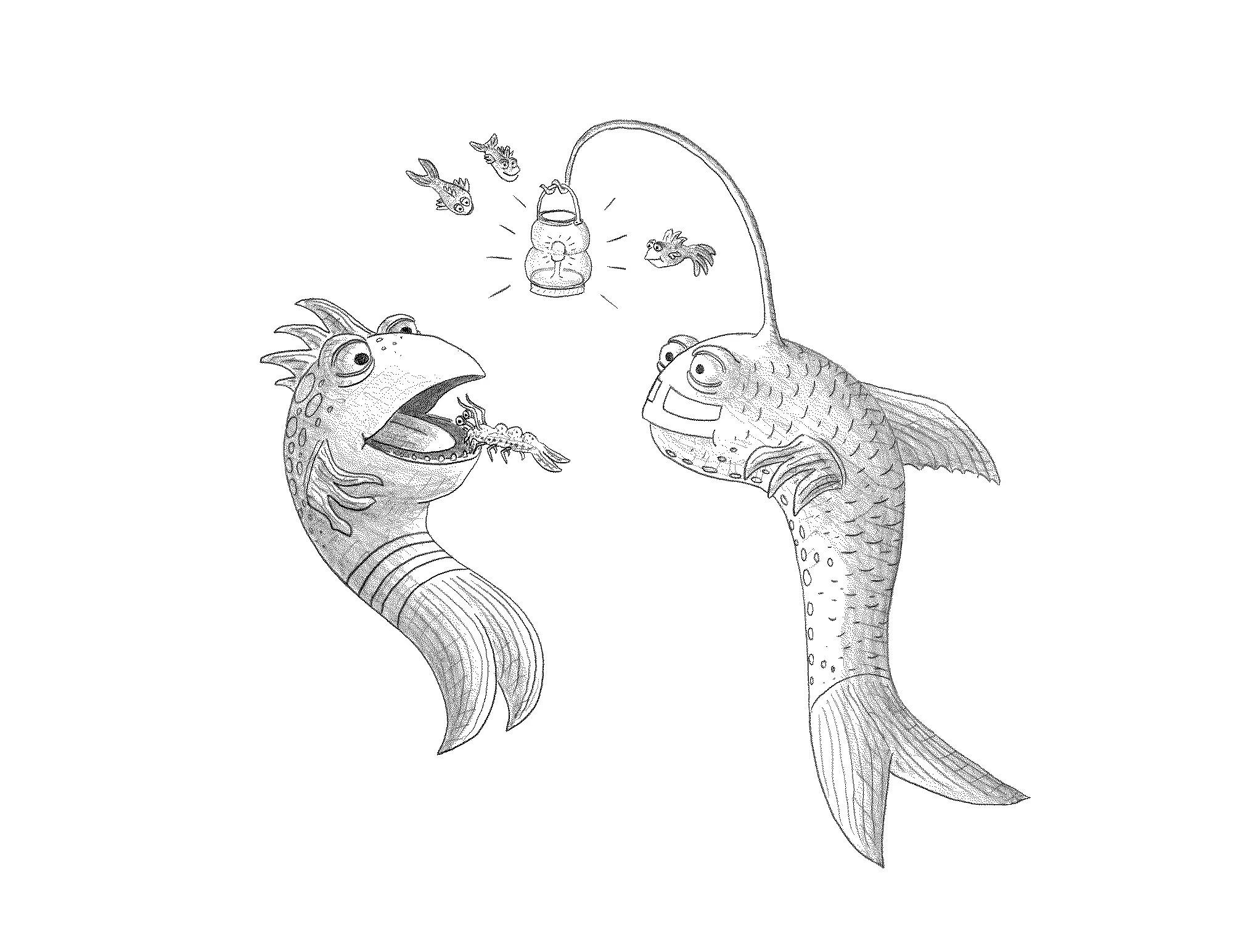 Free Printable Pout Pout Fish Coloring Page