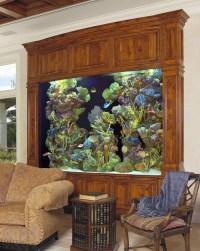 Digital Wall Mounted Aquarium | Aquarium Design Ideas