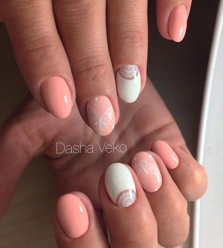 Peach Nails Photo