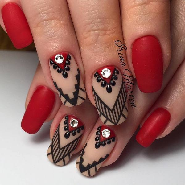 Best Nail Color with Red Dress