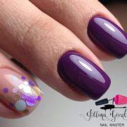 ideas of plum nails
