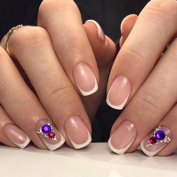 New Year Nail Art French Manicure Designs