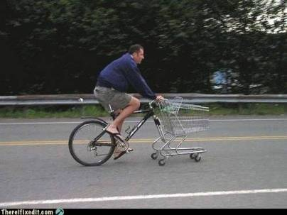 A melhor forma de ir ao supermercado sem gastar gasolina