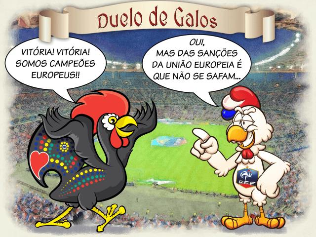 Duelo de Galos (Galo de Barcelos vs. Coq Français)