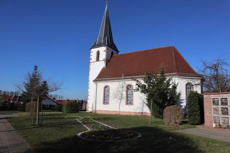 Friedhof Hochstetten - Evengelische Kriche Hochstetten