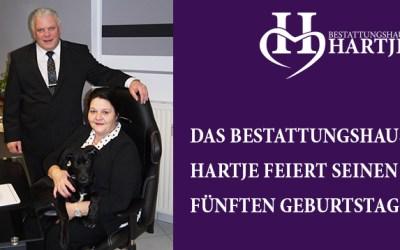 Das Bestattungshaus Hartje feiert seinen fünften Geburtstag
