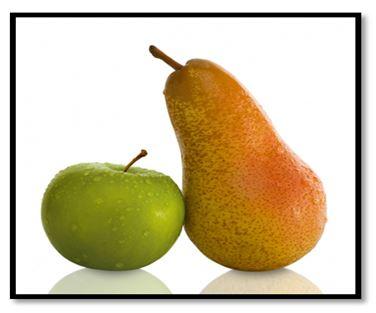 Nicht Äpfel mit Birnen vergleichen