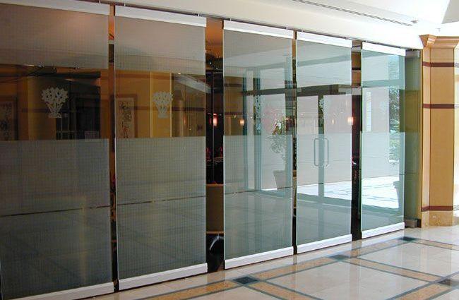 glass sliding doors interior