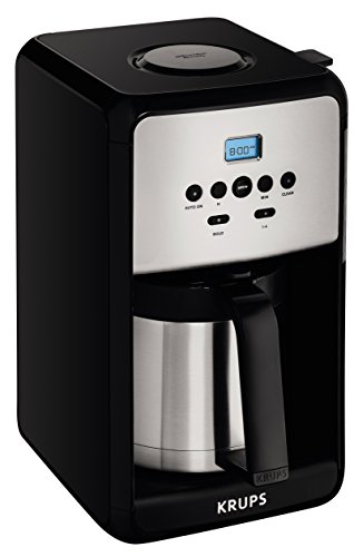 KRUPS 12 Cup Programmable Thermal Filter Coffee Maker Stainless Steel Savoy E