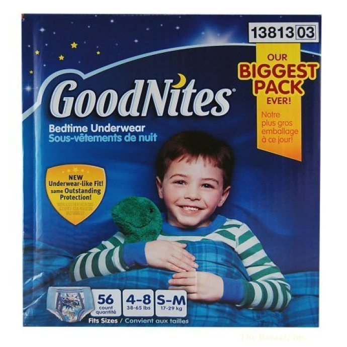 Goodnites Boys Underwear 56 Count, Small or medium