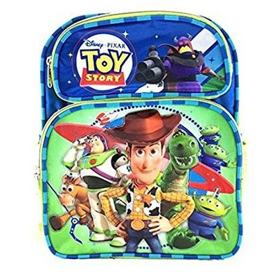 Disney Pixar Toy Story Canvas Green & Blue School Backpack