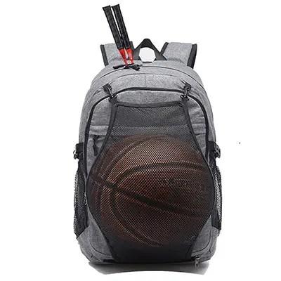 Kolako Outdoor Travel Bag With Basketball Net Headphone Port And USB Ports
