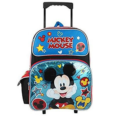 Mickey Mouse Large Rolling Backpack - Disney Blue