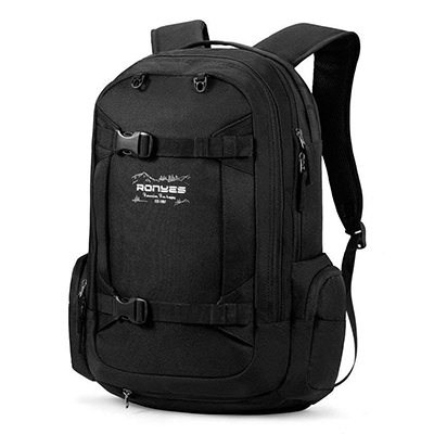 Skateboard Backpack Multi-Function Water-Resistant Backpack With USB Port