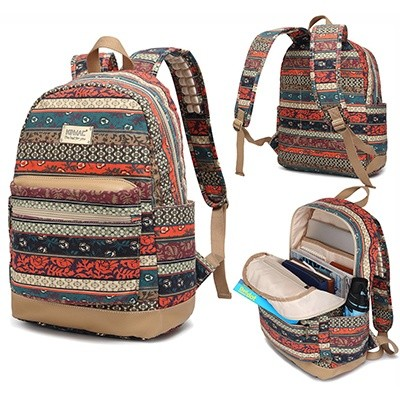 Kinmac Bohemian Water Resistant Laptop Backpack