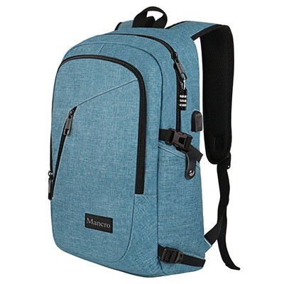 Mancro School And Work Backpack For Women With Anti-Theft And USB Port