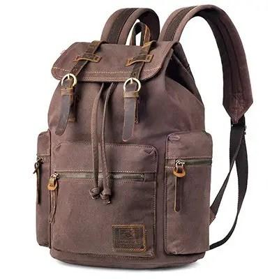 P.KU.VDSL Augur Series Vintage Canvas Backpack