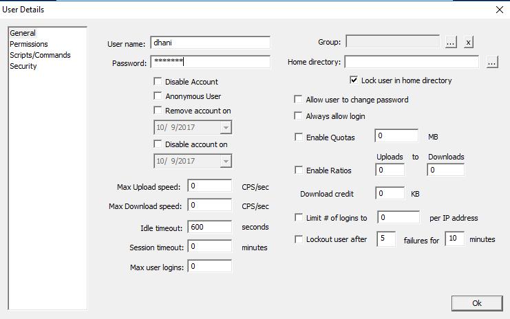 Create FTP Server Windows