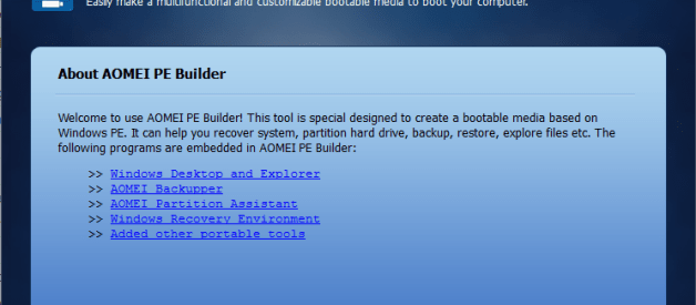 AOMEI PE Builder 2.0 Review and Download