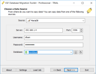 ESF Database Migration Toolkit 9.2.0