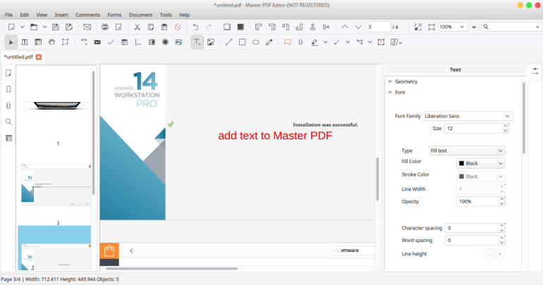 master pdf editor for linux