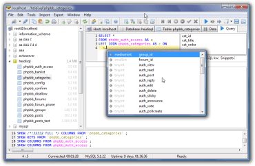 HeidiSQL 9.5 – Free Database Tool for Windows