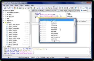 HeidiSQL 9.5 – Free Database Tool for Windows
