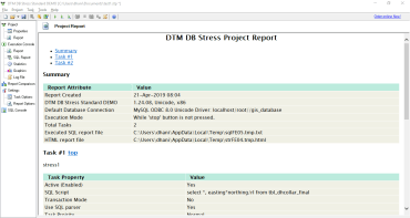 DTM DB Stress – Stress Test Tool for Database Server