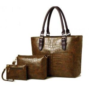 H1004 - Elegant 3pc Handbag Set