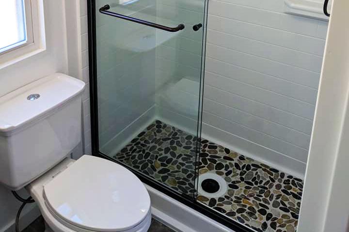 pebble shower pan pebble shower base