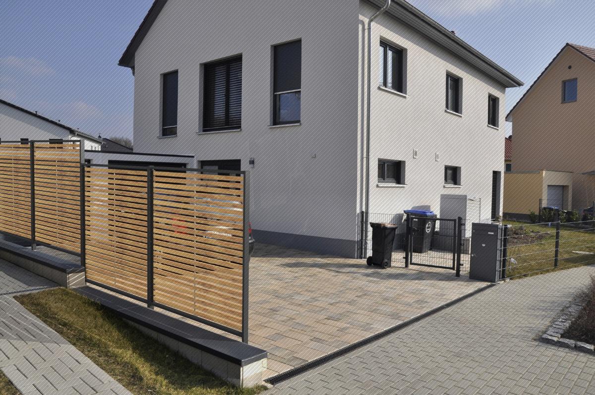 Sichtschutz Holz Terrasse Sichtschutz Metall