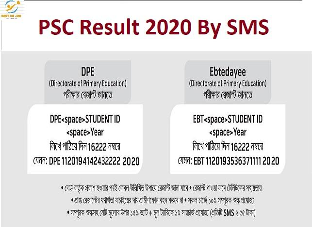 PSC Result 2020 By SMS