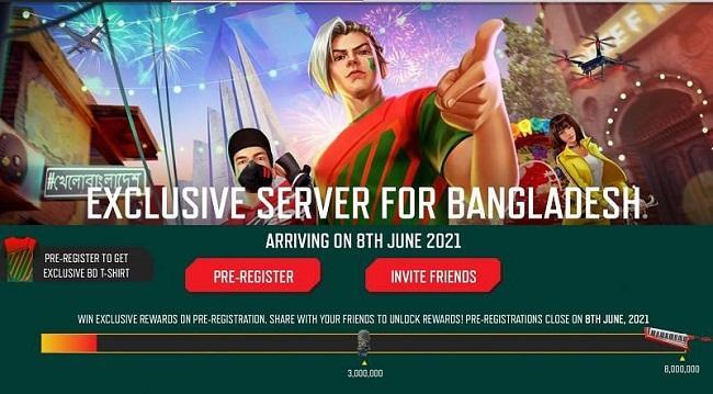 Free Fire Server For Bangladesh