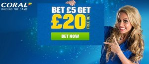 coral sports betting site has free 20 bets