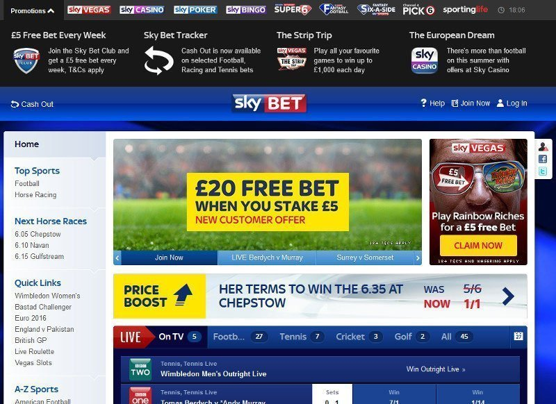 sky bet sign up offer