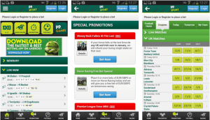 paddy power have a really easy to use mobile app