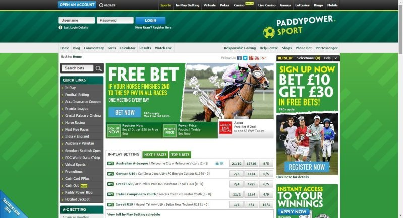 Paddy Power Sportsbook Review 1