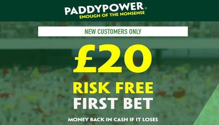 Enhanced Risk-Free Bet to New Paddy Power Customers 1
